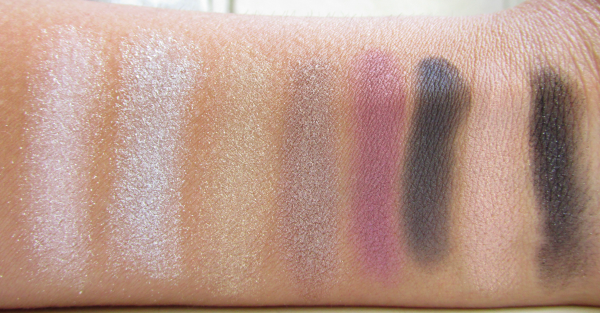 essence  Party Look Make-up Box eyeshadow swatches / lidschatten