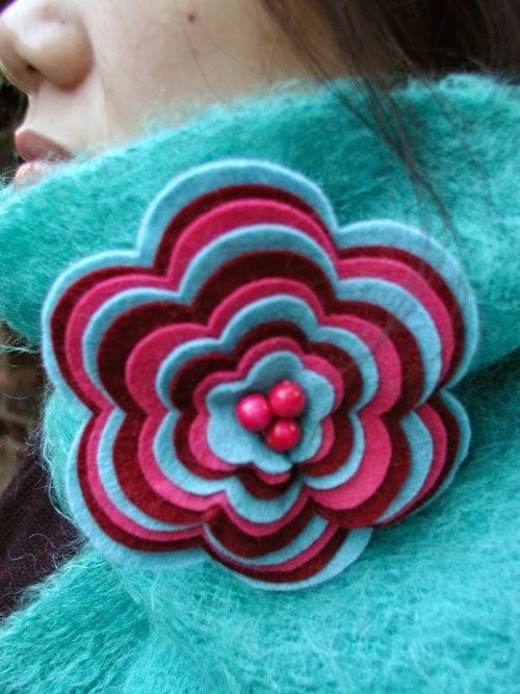 Felt Brooch Jewelry Laura Naylor