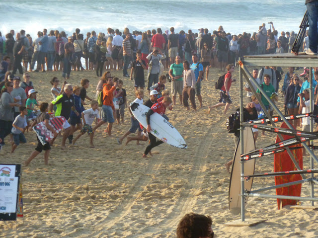 Quiksilver Pro France desde la arena