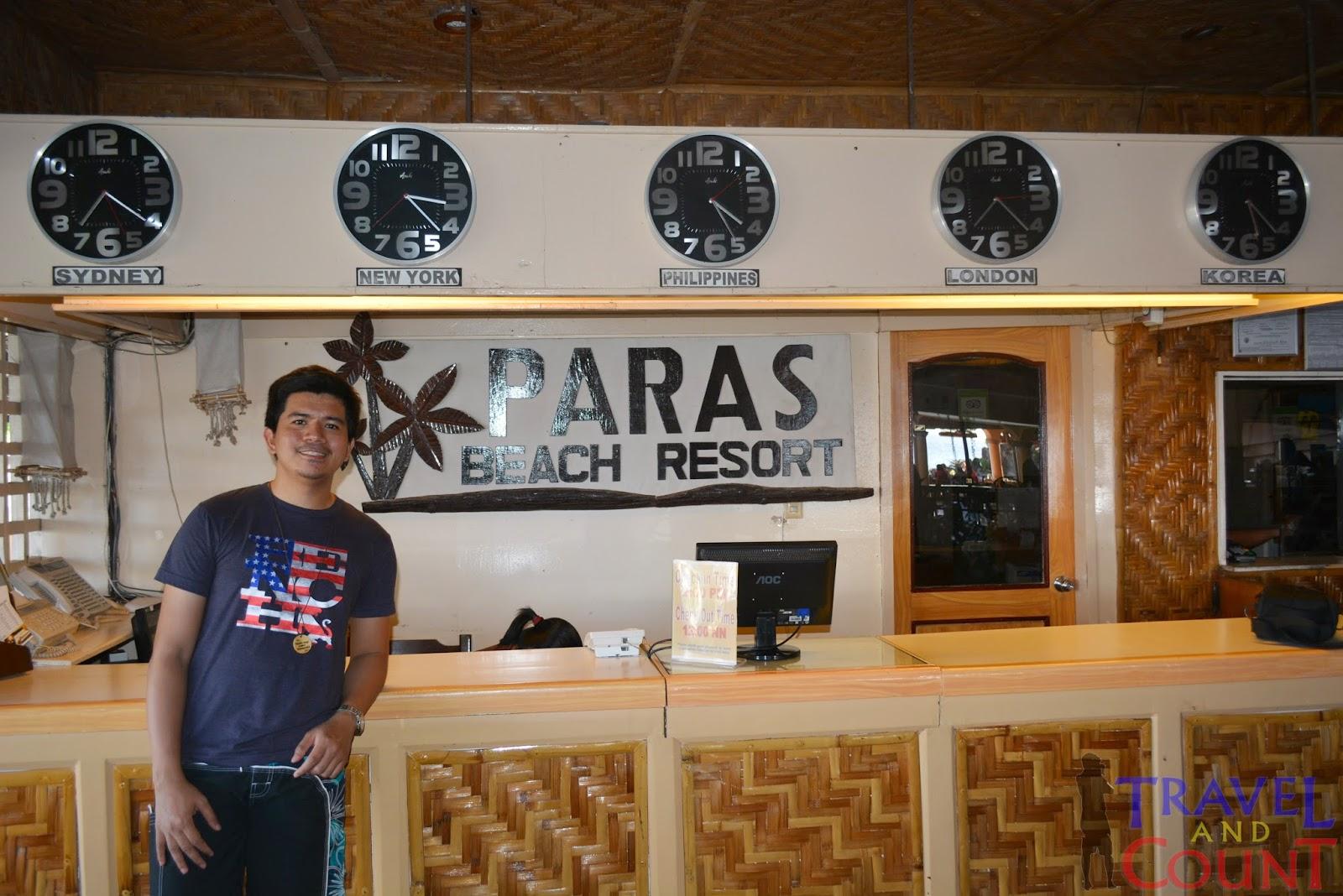 Paras Beach Resort Reception Area