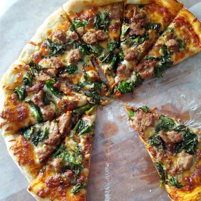 Pizza-Turkey-Sausage-Broccoli-Rabe-Caramelized-Onions-tasteasyougo.com
