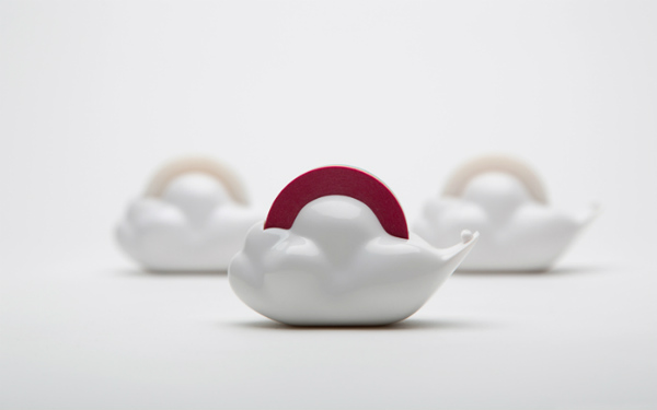 Merry Cloud Tape Dispenser by Korean studio Gongdreen Seen On www.coolpicturegallery.us