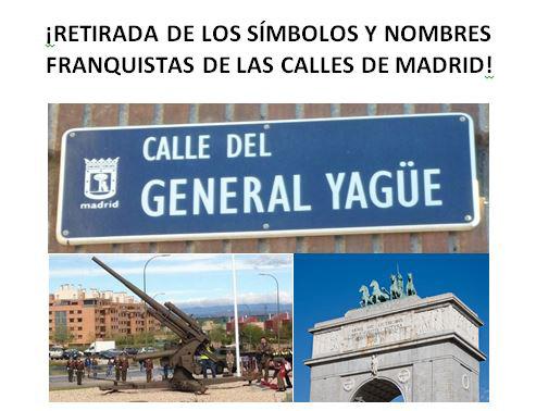 ¿quedan calles franquistas en Fuencarral El Pardo?