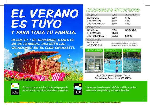 Las piletas del Club Cipolletti protagonizan las vacaciones de la ciudad