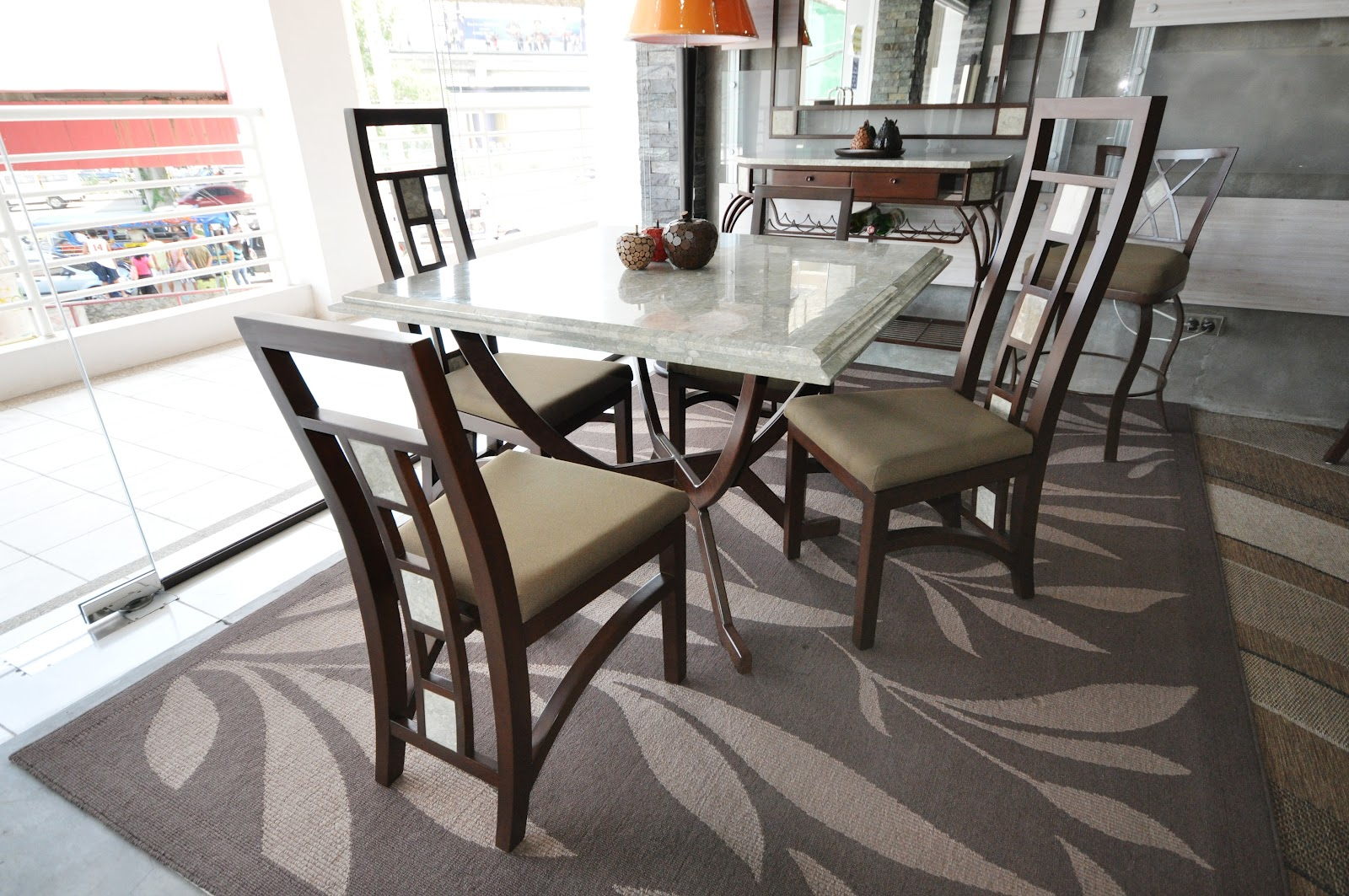 & Square Dining Table Set - Dolores Collection