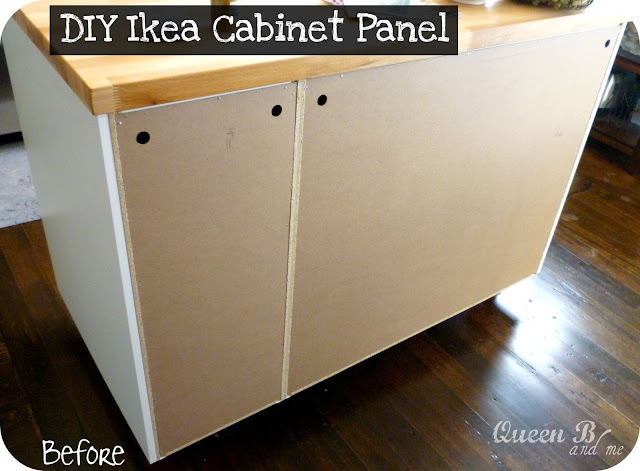 DIY IKEA Cabinet Panel!! Great way to add some fun to boring cabinets!