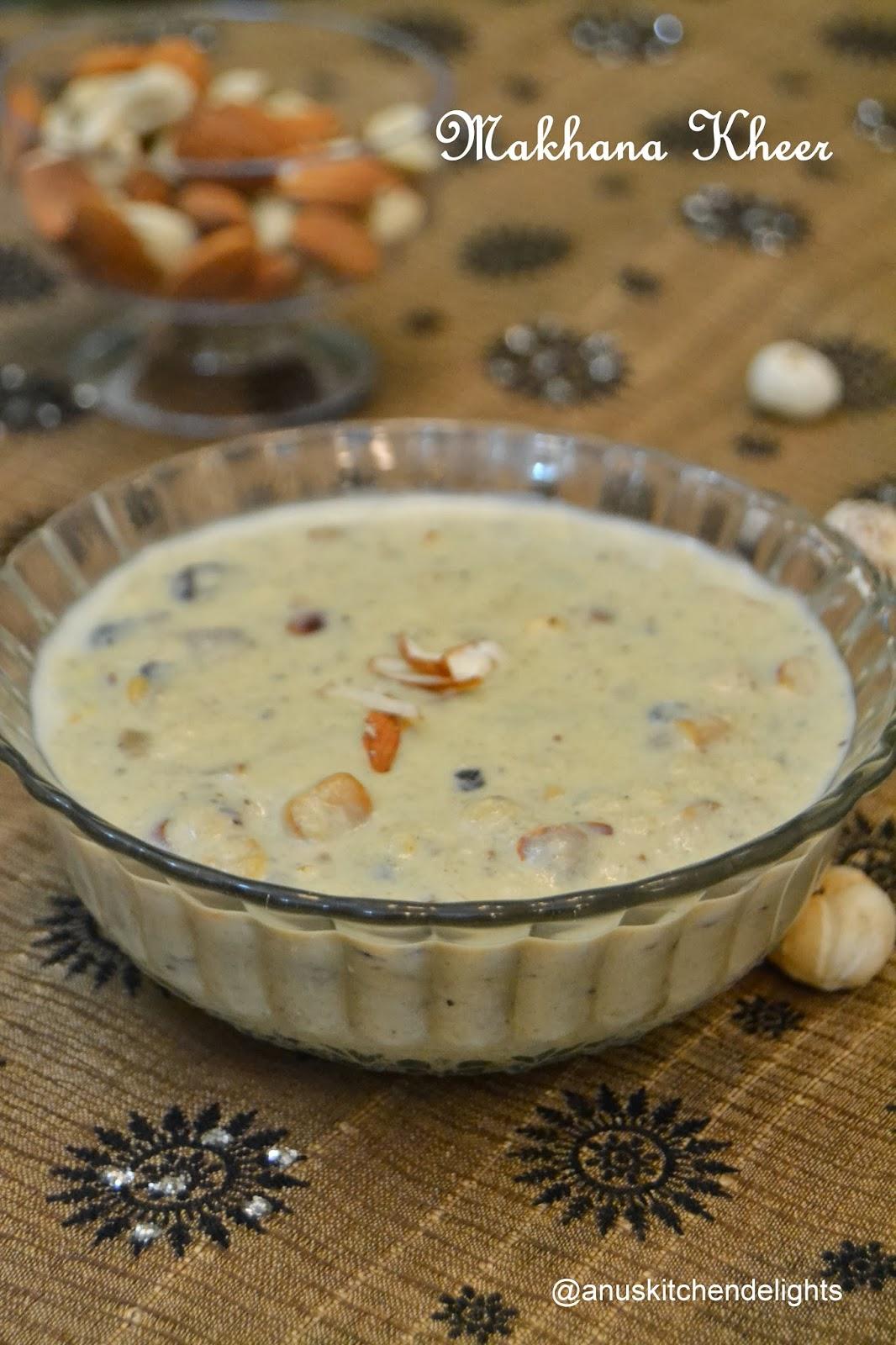 Makhana kheer recipe