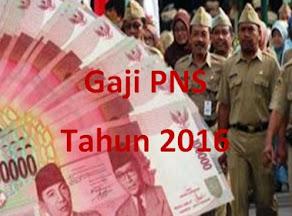 Gaji PNS 2016