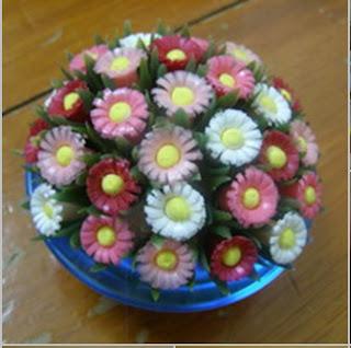 cara membuat kerajinan tangan dari sedotan : Bunga-bunga yang cantik