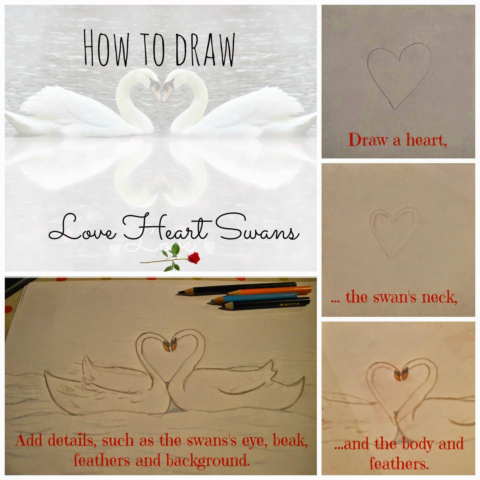 Swan Love Heart Inspiration Valentine's Day Craft
