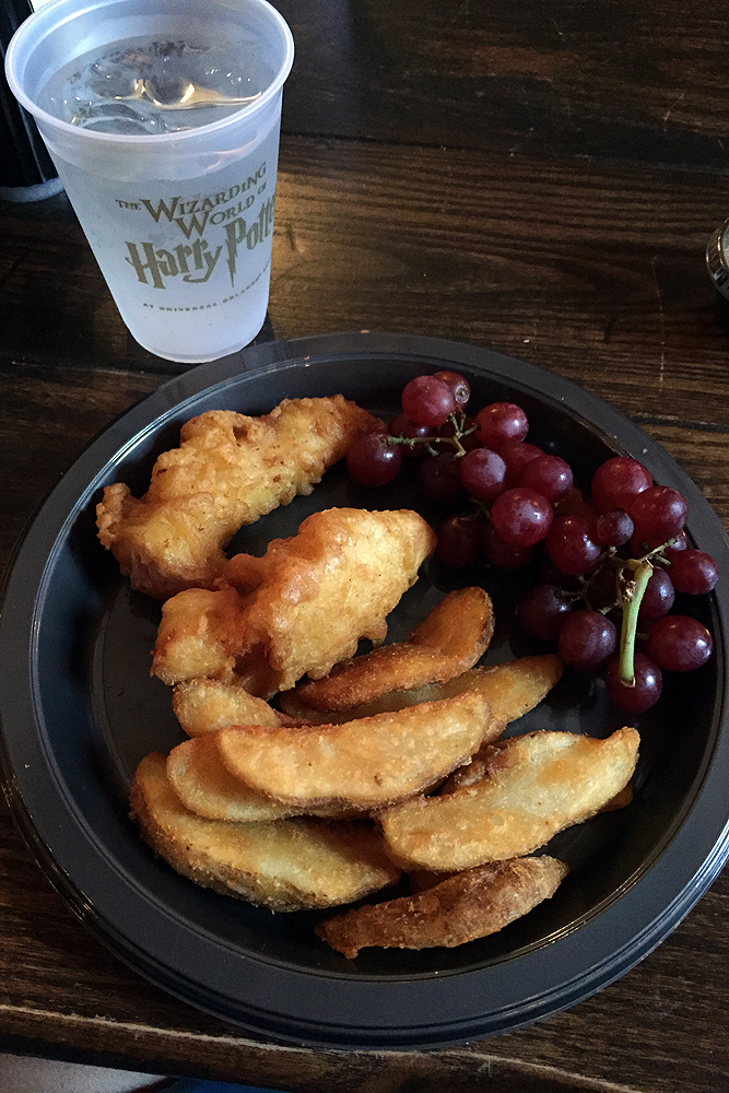 Fish and Chips from The Leaky Cauldron in Diagon Alley