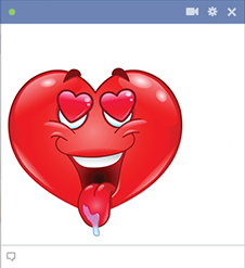 Drooling heart for Facebook
