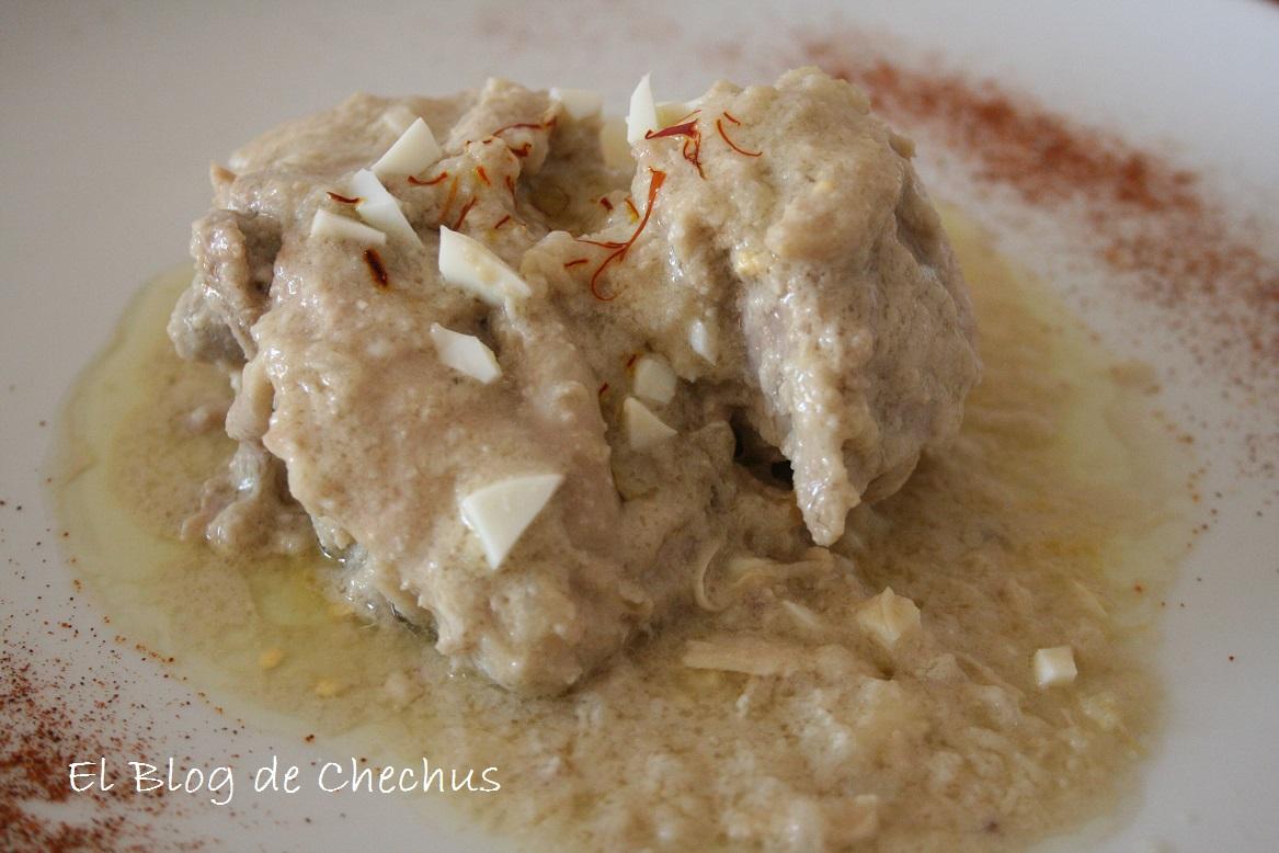 Pollo con salsa de almendras, El Blog de Chechus
