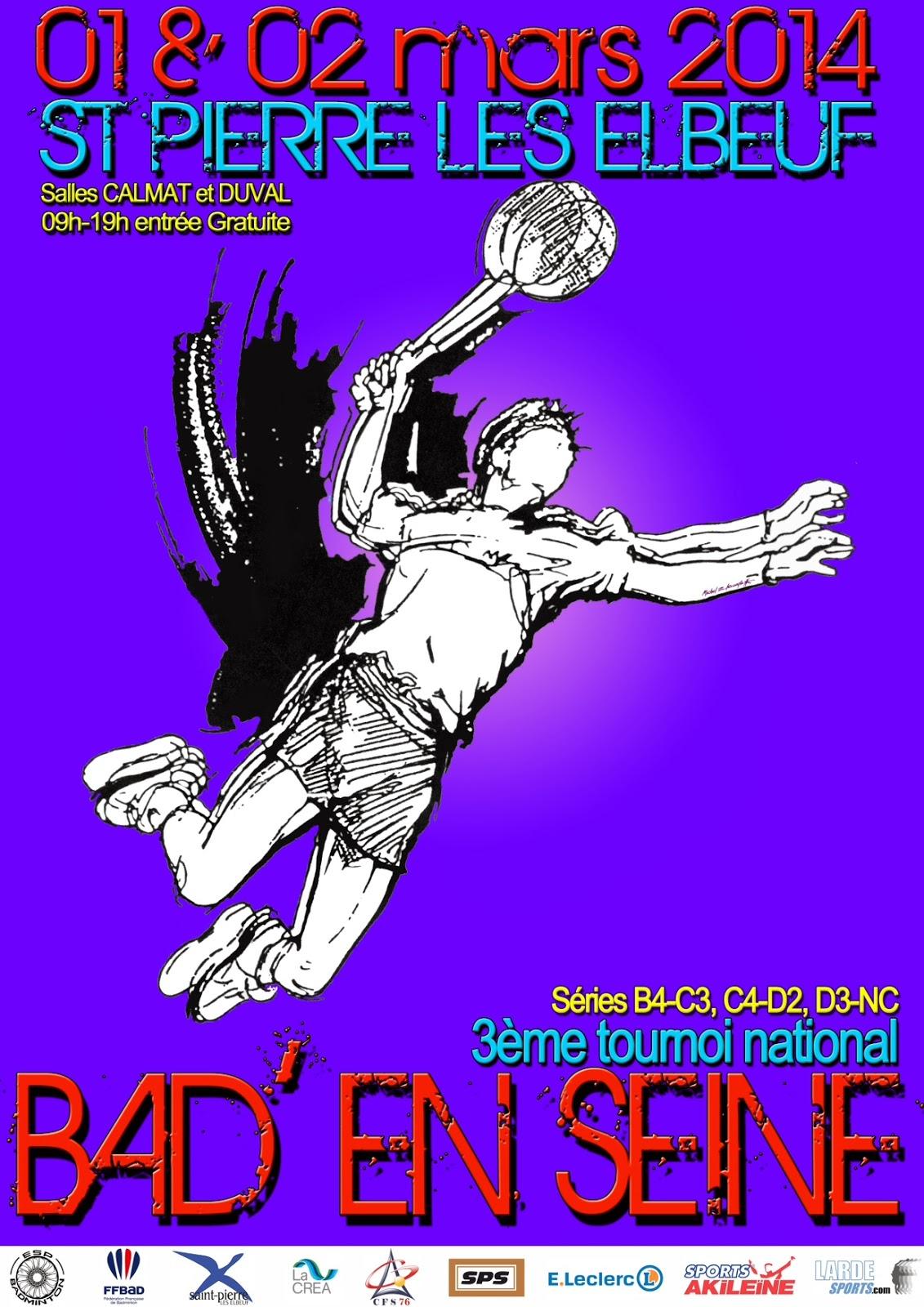 Ligue de haute normandie de badminton 3 me tournoi - Normandie garage st pierre les elbeuf ...