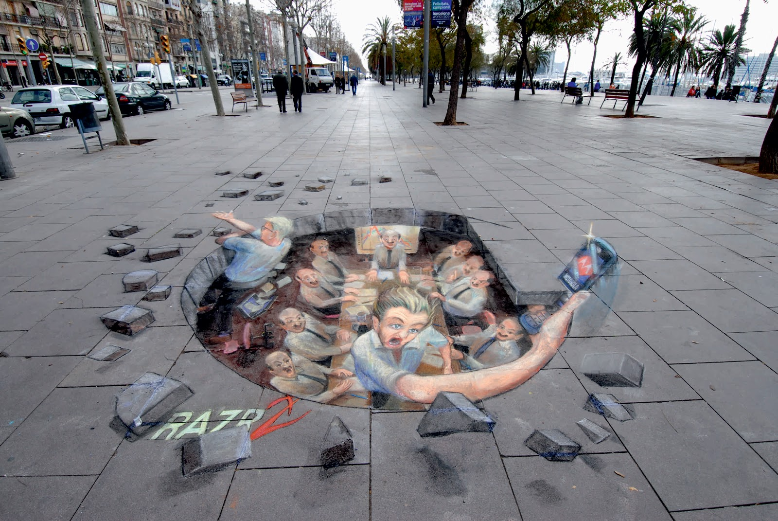 3d street art for 3d street painting mural art