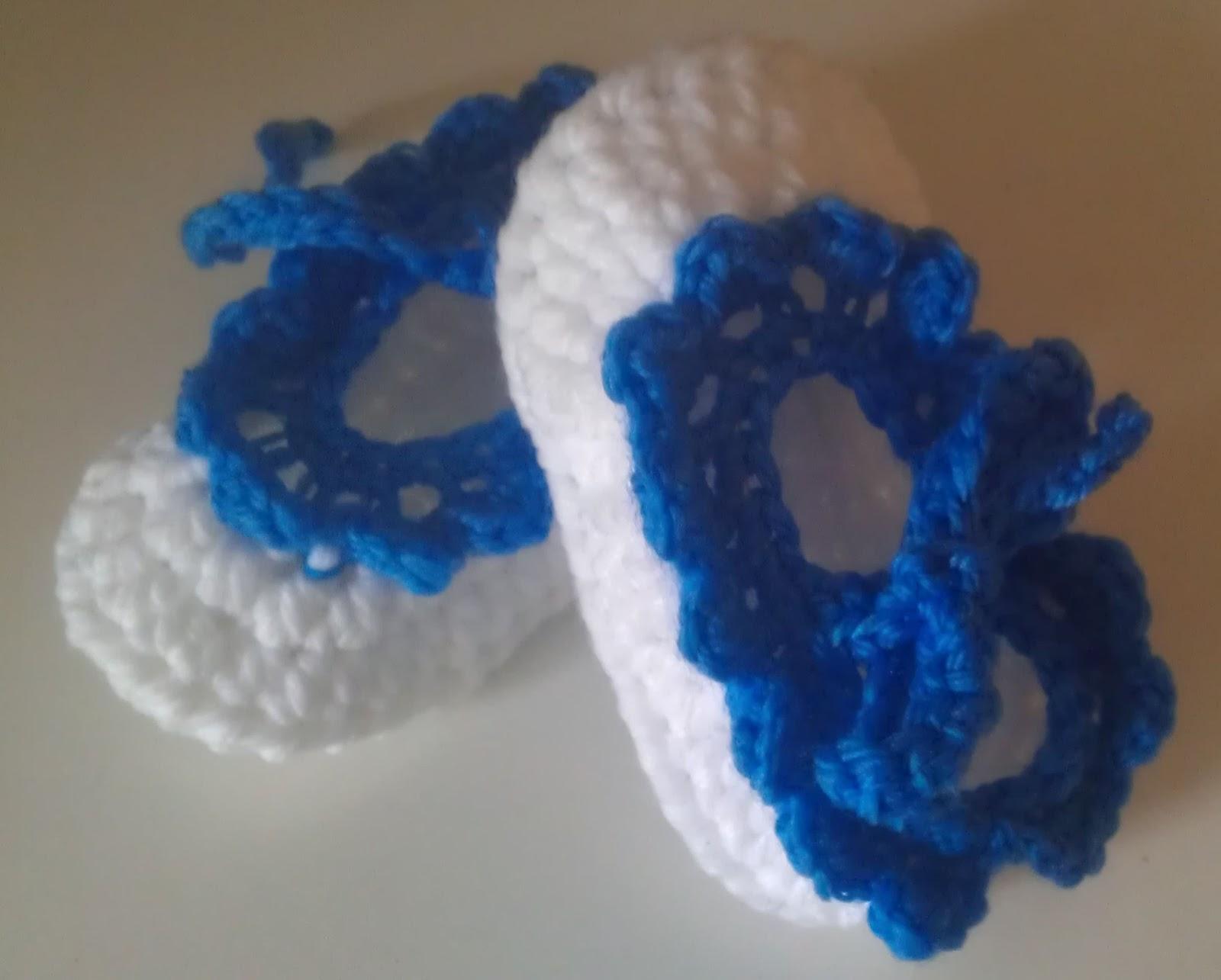 Shushs Handmade Stuff White Booties Crochet Pattern Free