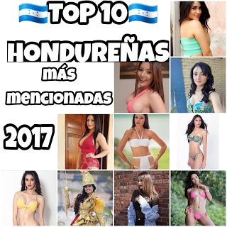 TOP 10 HONDUREÑAS MÁS MENCIONADAS EN EL 2017