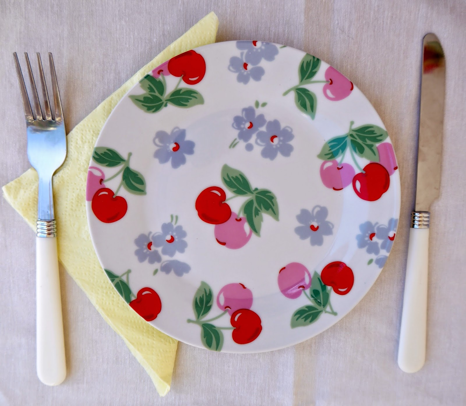 Cath Kidston plate, knife and fork