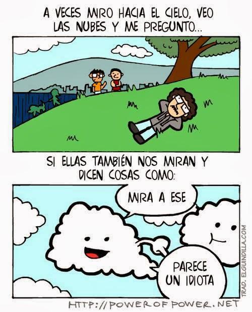 imagenes graciosas - A veces veo las nubes y me pregunto...