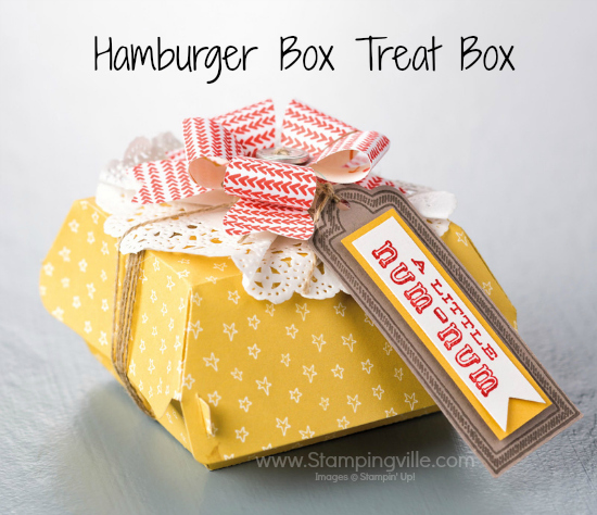 Fully decorated Hamburger Box Treat Box Photo Image