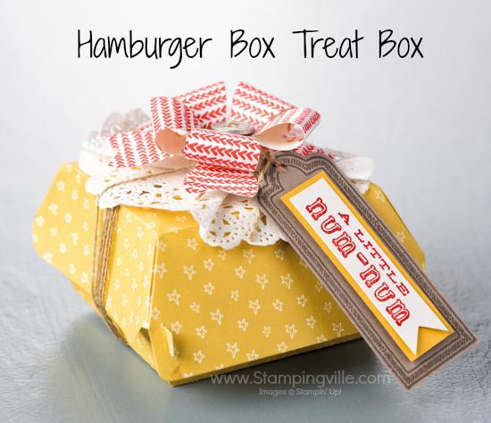 Fully decorated Hamburger Box Treat Box Photo Image