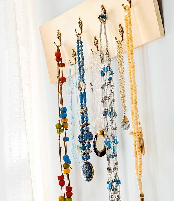 Fresia blanca organiza tus joyas - Para colgar collares ...