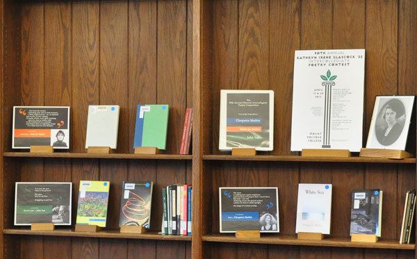 Display of 2013 Glascock Poet-Judges' work in the Stimson Room