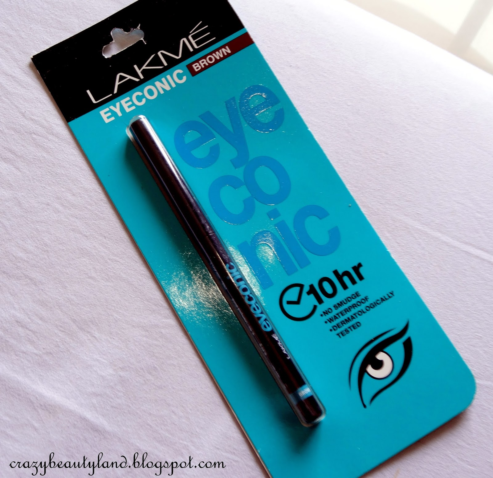 Lakme Eyeconic 10 Hr Kajal in Brown- Review,Price, Swatches, Photos, EOTD, where to buy online in India