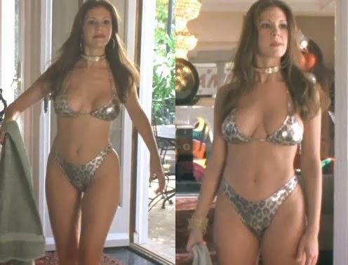Nikki Cox leopard-print bikini movieloversreviews.filminspector.com