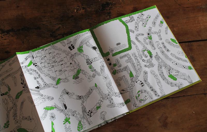 J'ai dessiné labyrinthe végétal géant colorier pour