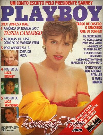 Revista Playboy - Tássia Camargo - Junho 1985