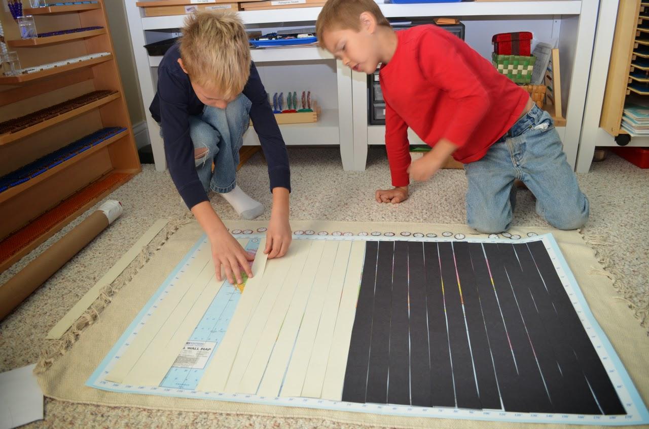 Montessori geography work chart GW1 time zones