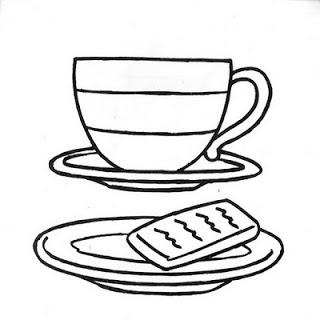 Desenhos de bules e xícaras para colorir e imprimir Papo  - imagens para colorir xicara