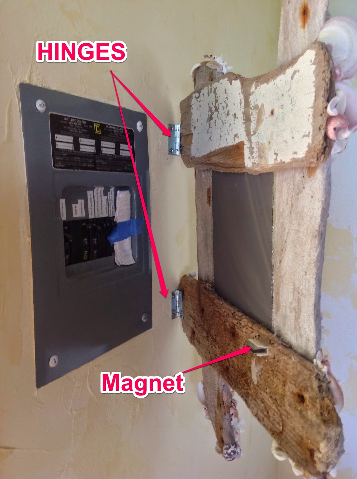 Circuit Breaker Cabinet How To Hide A Circuit Box It Hinges On Hinges Build And