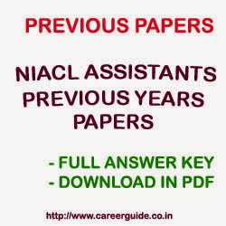 Download Previous Years Question Papers for Assistants Exam for The New Indian Assurance Co Ltd