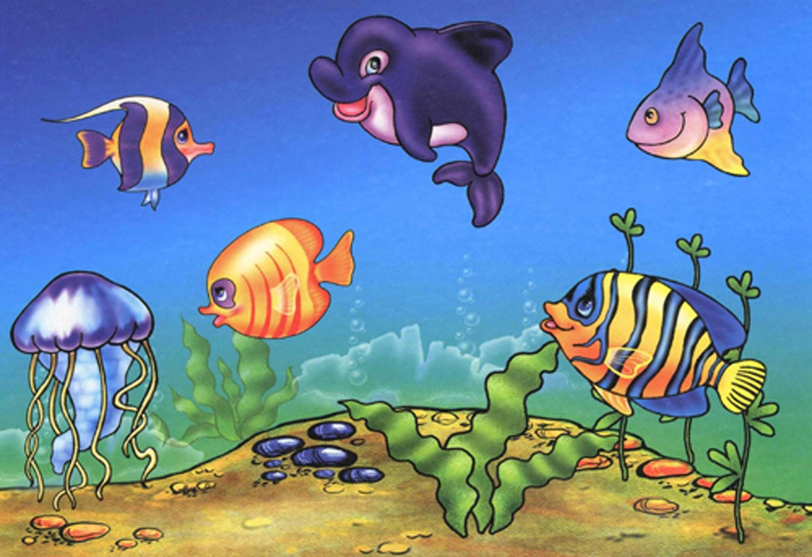 мультики ловят рыбу