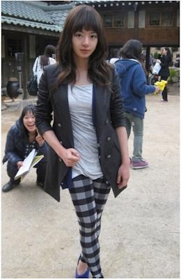 """Seo Woo dengan legging kotak - kotaknya di """"Cinderella's Sister"""""""