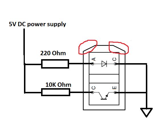 the erudition  tcrt5000 as a sensor