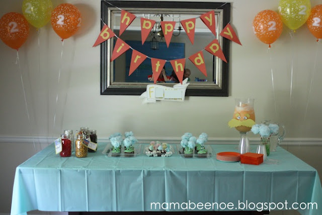 Lorax Themed Birthday Party