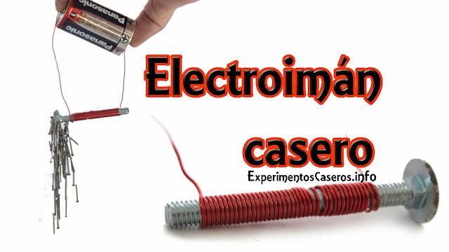 Cómo hacer un electroimán casero, experimentos caseros