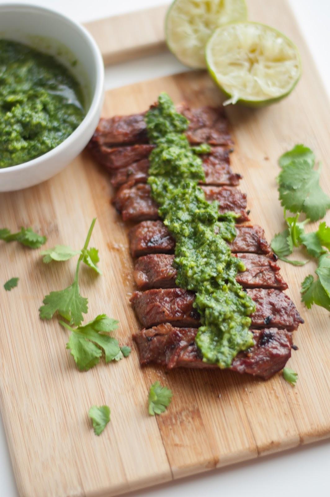 Spicy Lime-Cilantro Marinated Flank Steak Recipe — Dishmaps