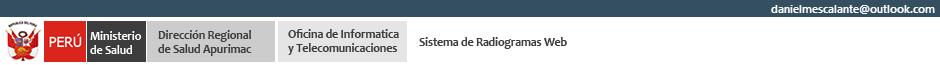 Radiogramas Web:  DIRESA APURIMAC