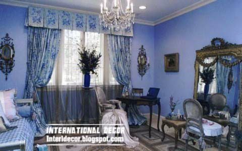 Classic curtain designs, bedroom curtains 2015,blue curtains