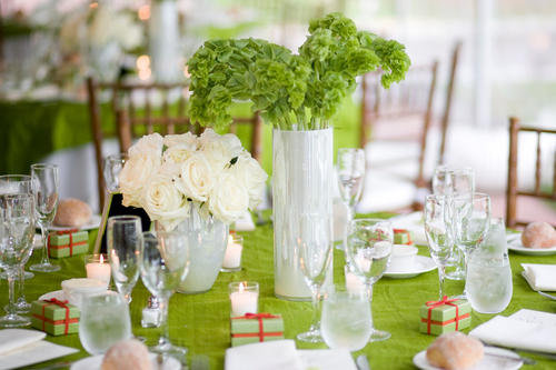 beautiful green wedding decorations