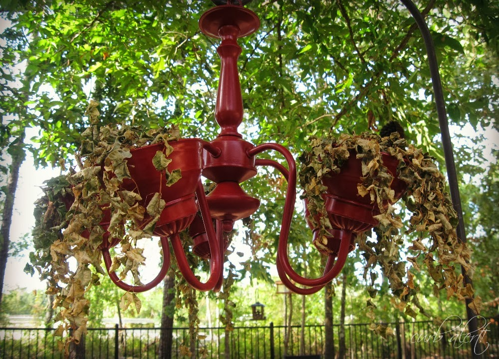 Curb Alert The Real Garden Chandelier updated with Flowers
