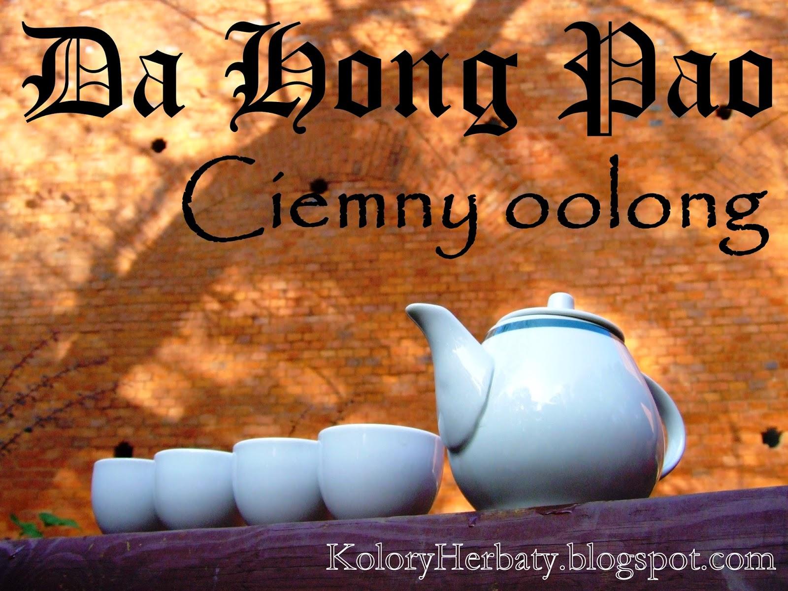 herbata ciemny oolong Da Hong Pao parzona w plenerze
