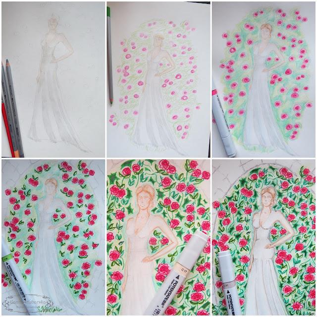 Невеста и розы