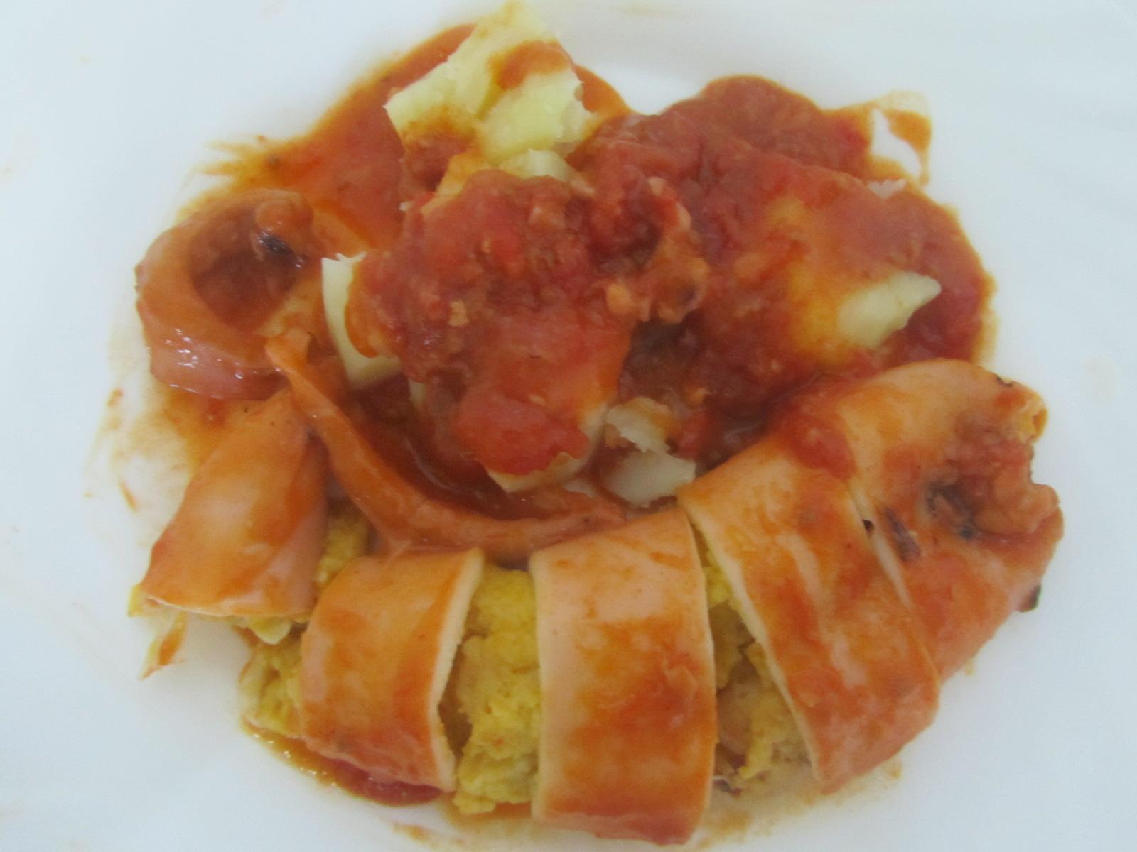 La cocina de maruchi calamares rellenos con salsa de - Salsa para calamares rellenos ...