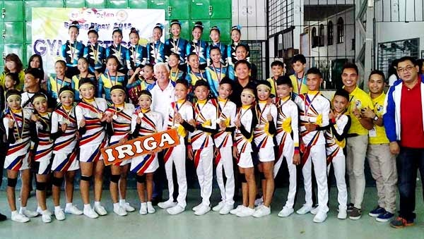 Team Iriga from Zeferino Arroyo High School PHOTO COURTESY OF CLOYD M. LAGYAP