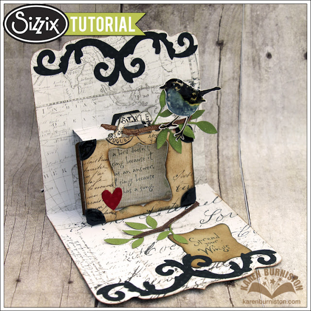 Sizzix Die Cutting Tutorial: Triple Take Thursday with Karen Burniston